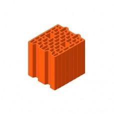 Керамічний блок Теплокерам 25 Еко 7,62NF (250х250х238 мм) Керамейя