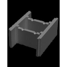 Блок стеновой несъемной опалубки 510х400х235