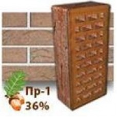 Кирпич Керамейя КлинКерам Рустика Гранит 23 ПР-1 36%