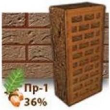 Кирпич Керамея КлинКерам Рустика Гранит 43 ПР-1 36%