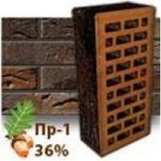 Кирпич Керамейя КлинКерам Рустика Гранит 53 ПР-1 36%