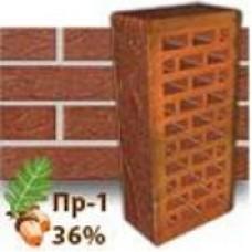 Кирпич Керамея КлинКерам Рустика Рубин 13 ПР-1 36%